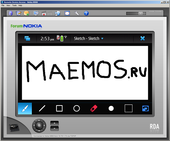 Remote Device Access RDA Nokia N900 Maemo